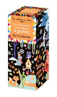Frise décorative autocollante à gratter : les 4 saisons