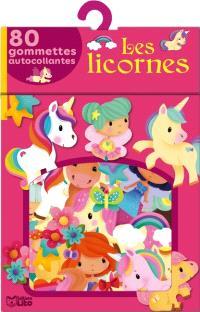 Les licornes : 80 gommettes autocollantes