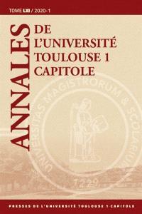 Annales de l'université de Toulouse 1 Capitole. Volume 61