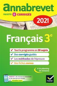 Français 3e : 2021
