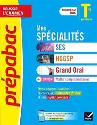 Mes spécialités SES, HGGSP, grand oral + option maths ...