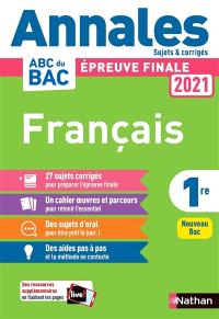 Français 1re : épreuve finale 2021 : nouveau bac