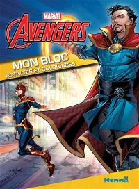 Marvel Avengers : mon bloc activités et coloriages