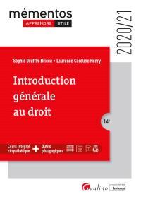 Introduction générale au droit : 2020-2021