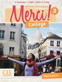 Merci ! méthode de français, collège 3, niveau CECR A2
