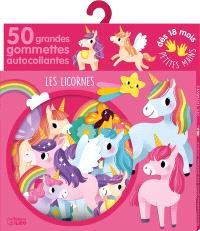 Les licornes : 50 grandes gommettes autocollantes