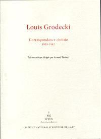 Correspondance choisie : 1933-1982