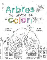 Arbres de Bruxelles à colorier