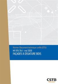 Façades à ossature bois : NF DTU 31.4 : mai 2020