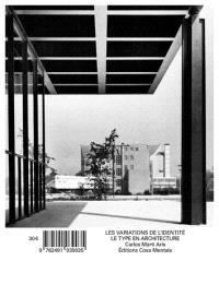 Les variations de l'identité – Le type en architecture