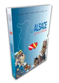 L'Alsace : une terre d'histoire : coffret BD Bas-Rhin+Haut-Rhin