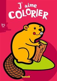 J'aime colorier, 2-4 ans : castor
