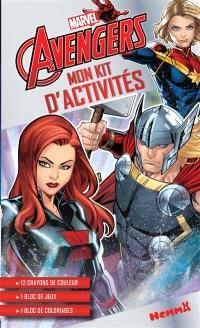 Marvel Avengers : mon kit d'activités : Black Widow, Thor, Captain Marvel