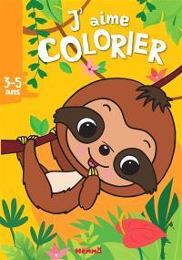 J'aime colorier, 3-5 ans : paresseux