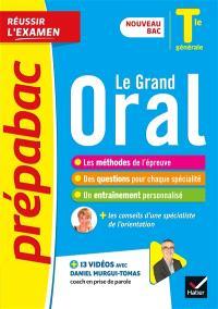 Le grand oral, terminale générale : nouveau bac