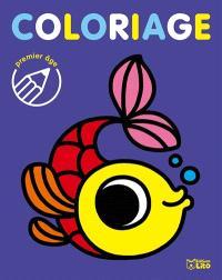Coloriage premier âge : le poisson