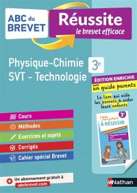 Physique chimie, SVT, technologie 3e