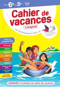 Cahier de vacances de la 6e à la 5e, 11-12 ans : tout le programme
