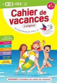 Cahier de vacances du CE1 au CE2, 7-8 ans : tout le programme