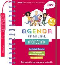 Agenda familial 2022 : de septembre 2021 à décembre 2022 : tous les outils pour s'organiser en famille
