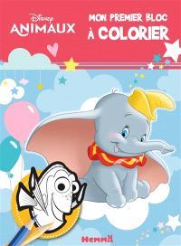 Disney animaux : mon premier bloc à colorier
