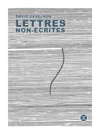 Lettres non-écrites