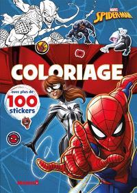 Coloriage : Spider-Man et Spider-Girl : avec plus de 100 stickers