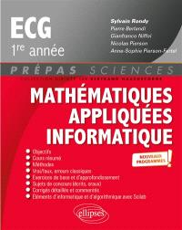 Mathématiques appliquées informatique, ECG 1re année : nouveaux programmes