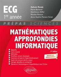 Mathématiques approfondies informatique, ECG 1re année : nouveaux programmes