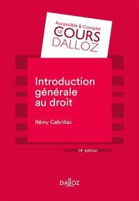 Introduction générale au droit : 2021