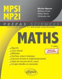 Maths MPSI, MP2I : nouveaux programmes
