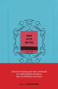 Burn after writing (couverture bleue)