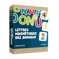 Lettres magnétiques des animaux