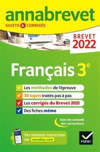 Français 3e : brevet 2022