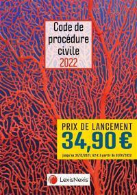 Code de procédure civile 2022 : jaquette corail