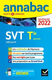 SVT spécialité, terminale générale : nouveau bac 2022