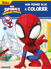 Spidey and his amazing friends : mon premier bloc à colorier