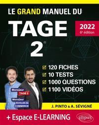 Le grand manuel du Tage 2 : 120 fiches, 10 tests, 1.000 questions, 1.100 vidéos : nouveau programme officiel, 2022