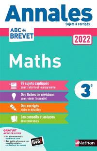 Maths 3e : annales 2022