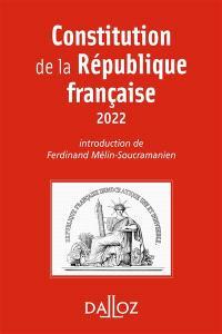 Constitution de la République française : 2022