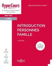 Droit civil 1re année : introduction, personnes, famille