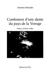 Confession d'une dame du pays de la Venoge
