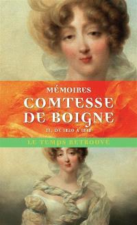 Mémoires de la comtesse de Boigne, née d'Osmond : récits d'une tante. Volume 2, De 1820 à 1848