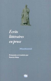 Ecrits littéraires en prose