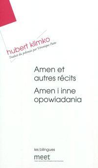 Amen : et autres récits = Amen : i inne opowiadania