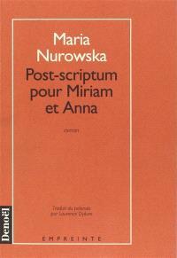 Post-scriptum pour Myriam et Anna