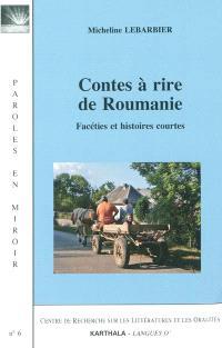 Contes à rire de Roumanie : facéties et histoires courtes