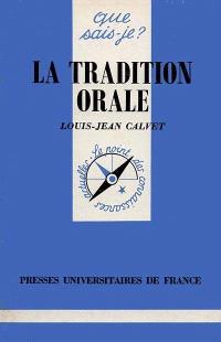 La Tradition orale