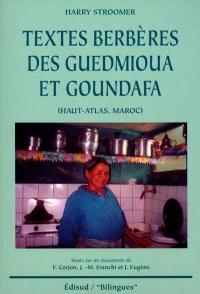 Textes berbères des Guedmioua et Goundafa