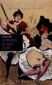 Mémoires de Miss Coote : exploits d'une fouetteuse britannique racontés par elle-même